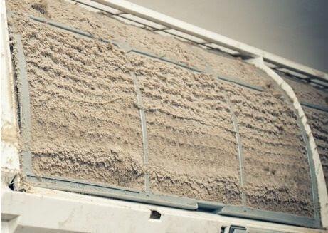 洗冷氣機步驟2 取出隔塵網